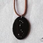 pandativ handmade din lemn negru