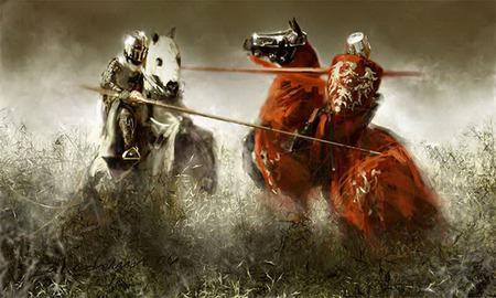 Lupte medievale pe cai