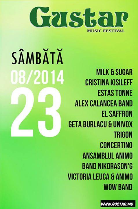 program muzical gustar 2014 sambata