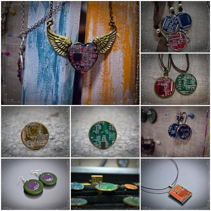 bijuterii din piese de compiuter