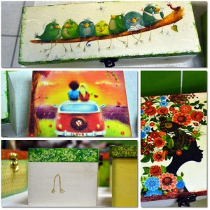 cutii decoupage handmade