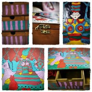 cutii pictate handmade